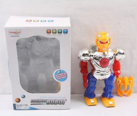 """Робот электронный Shantou Gepai """"Робот-боец со щитом"""" со звуком светящийся"""