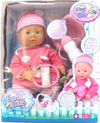 Кукла-младенец Shantou Gepai функц-й м/н EARLY DAYS с аксес-ми,  36см, пьет и писает.