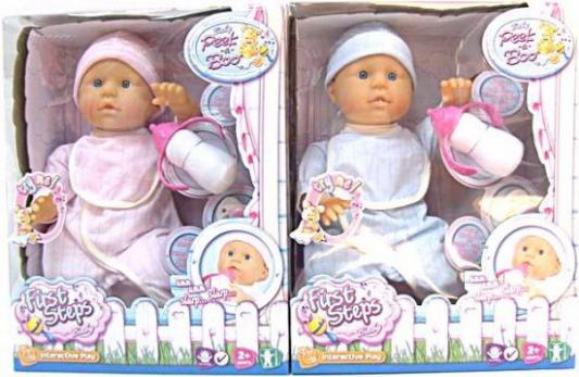 Кукла-младенец Shantou Gepai озвуч. FIRST STEPS с аксес-ми,  40см, 7 дет. звуков, в ас-те.