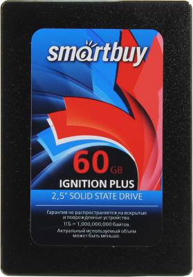 Твердотельный накопитель SSD 2.5 60GB Smartbuy Ignition PLUS SSD Read 550Mb/s Write 335Mb/s SB060GB-IGNP-25SAT3 твердотельный накопитель ssd 2 5 120gb smartbuy ignition plus read 560mb s write 465mb s sata sb120gb ignp 25sat3