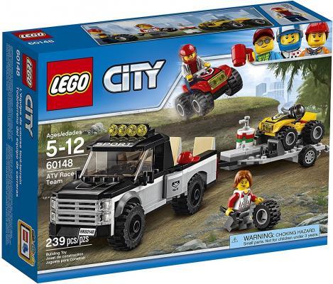 Конструктор LEGO City: Гоночная команда 239 элементов 60148 конструктор lego city 60148 гоночная команда