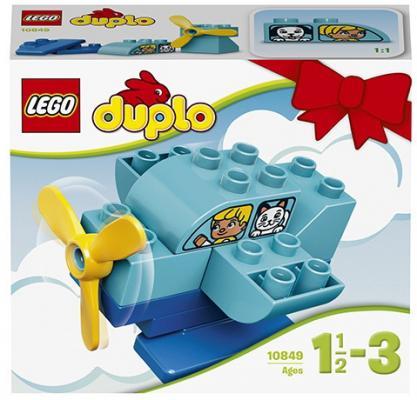 Конструктор LEGO Duplo Мой первый самолёт 10 элементов 10849 duplo my first 10851 мой первый автобус