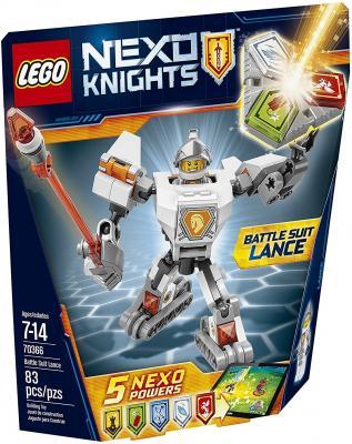 Конструктор LEGO Nexo Knights Боевые доспехи Ланса 83 элемента 70366