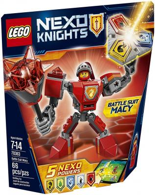 Конструктор Lego Nexo Knights Боевые доспехи Мэйси 66 элементов 70363
