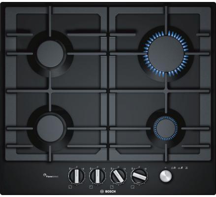 Варочная панель газовая Bosch PCP6A6M90 черный варочная панель bosch pkf651fp1e