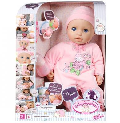 Кукла ZAPF Creation Baby Annabell 43 см с мимикой чмокающая смеющаяся baby annabell аксессуар для кукол памперсы