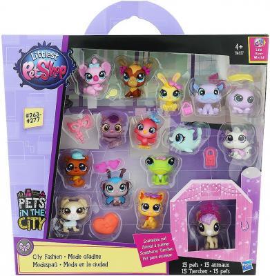 Игровой набор Hasbro Littlest Pet Shop набор зверюшек - малышей 15 предметов недорого