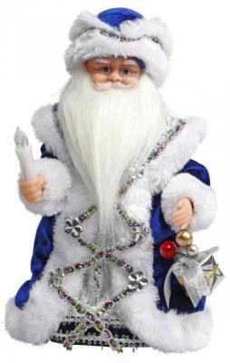 Дед Мороз Новогодняя сказка синий 30 см 1 шт пластик, текстиль, мех