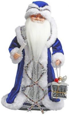 "Дед Мороз Новогодняя сказка 40 см, мех., муз., песня ""В лесу родилась елочка"", синий"