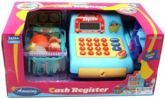 Игровой набор Shantou Gepai Касса эл. с набором продуктов и сканером 942324