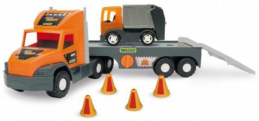 Игровой набор Wader Super Tech Truck 2 шт разноцветный с мусоровозом 36730 универсальный набор инструмента super tech jonnesway s68h5234111s
