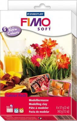 Глина полимерная FIMO soft комплект Тёплые цвета 8023 03