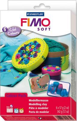 Глина полимерная FIMO soft комплект Холодные цвета 8023 04