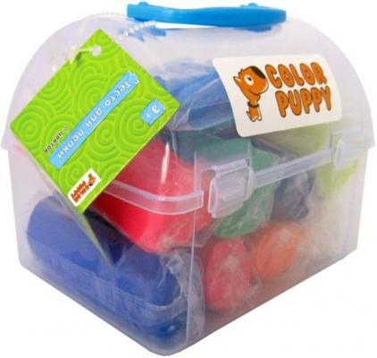 Тесто для лепки Color Puppy 8 цветов, 1040г, формочки, аксесс. 635154