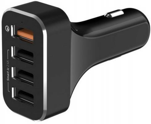 Сетевое зарядное устройство LAB.C LABC-584-BK 4 x USB 2.4А черный сетевое зарядное устройство orico dcw 4u bk 4 usb 9 6a черный
