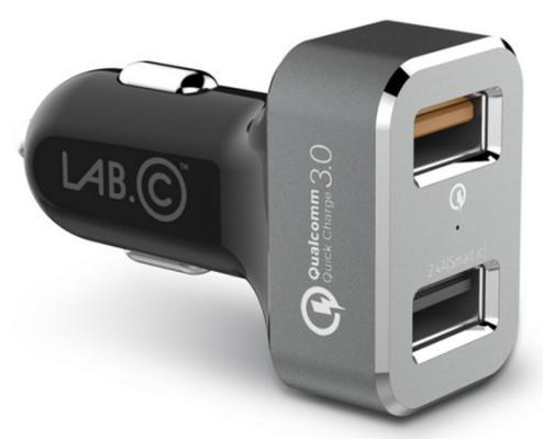 Автомобильное зарядное устройство LAB.C USB Car Charger USB 2.4А серый LABC-583-GR