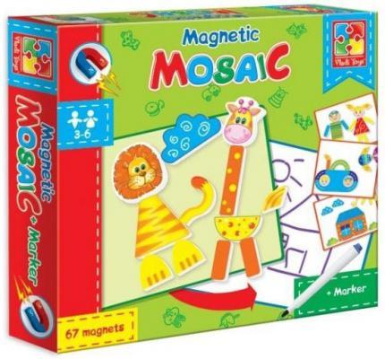 """Магнитная мозайка Vladi toys """"Львенок и жираф"""" 67 элементов"""