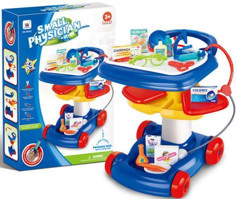 Игровой набор Shantou Gepai Доктор: столик на колесах, предметы медицинского назначения 27 предметов W083
