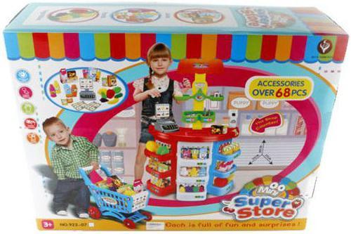 Игровой набор Shantou Gepai Супермаркет с тележкой и аксессуарами 68 предметов 6927713273597