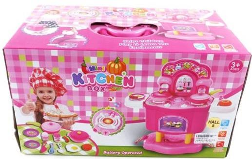 Игровой набор Shantou Gepai Кухня на ножках с набором посуды и продуктами  3557