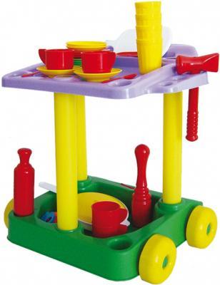 Игровой набор Совтехстром Сервировочный столик с набором посуды 44 предмета 4607056793281