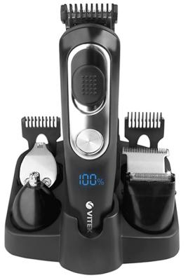 Триммер Vitek VT-2549 чёрный серебристый