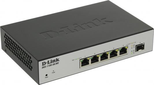 Коммутатор D-LINK DGS-1100-06/ME/L управляемый 5 портов 10/100/1000Mbps