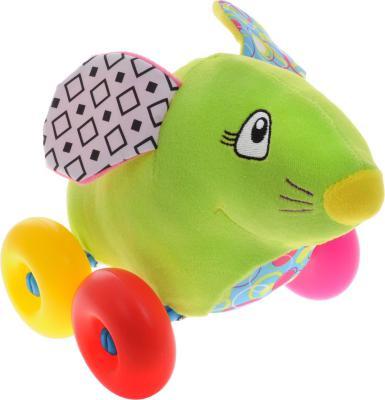 "Каталка Жирафики ""Мышка"" зеленый от 8 месяцев пластик"