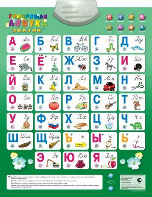 Обучающий плакат Знаток Говорящая азбука PL-08-NEWru электронный плакат знаток говорящая азбука 8 режимов pl 08 34317