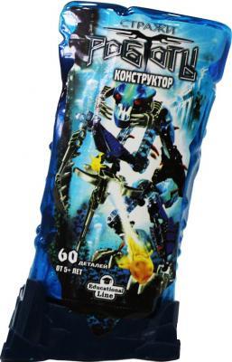 Конструктор Город игр RoboBlock Синий Воин M 60 элементов