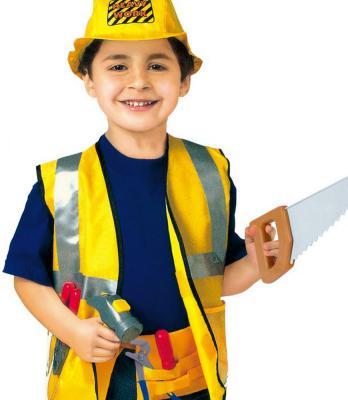 Костюм игровой Город Игр Строитель с аксессуарами 9 предметов FL0005-950 город игр карнавальный костюм для мальчика повар с аксессуарами