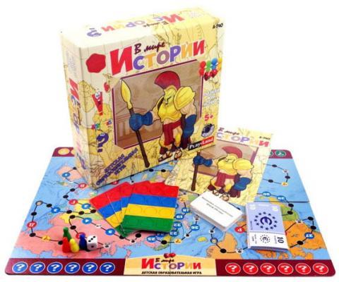 Настольная игра развивающая PLAYLAND В мире истории  A-740 playland настольная игра в мире животных