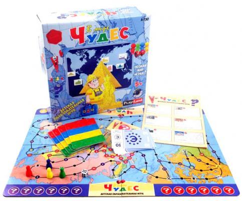 Настольная игра развивающая PLAYLAND В мире чудес  A-730 playland настольная игра в мире животных