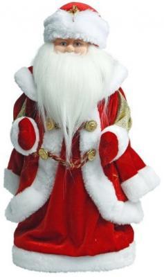 Дед Мороз Новогодняя сказка 40 см, мех., муз., песня В лесу родилась елочка, красный игровые фигурки maxitoys фигура дед мороз в плетеном кресле музыкальный