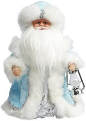 """Дед Мороз Новогодняя сказка в голубом 30 см, мех., муз., песня """"В лесу родилась елочка"""""""