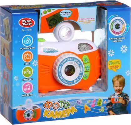 Интерактивная игрушка China Bright Фотоаппарат на батарейках (обучение, игры, эффекты, 4 функции, вращ.объектив, звук в/к) от 3 лет