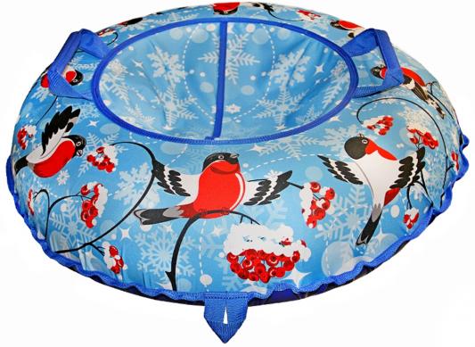 Тюбинг Санки Снегокаты RT Снегири разноцветный синий рисунок ПВХ