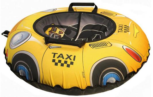 Тюбинг Санки Снегокаты RT Такси желтый рисунок ПВХ карвинговые санки zipfy black