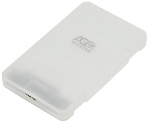 "Внешний контейнер для HDD 2.5"" SATA AgeStar 31UBCP3 USB3.1 алюминий белый"