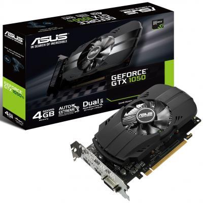 Видеокарта 2048Mb ASUS GeForce GTX1050 PCI-E 128bit GDDR5 DVI HDMI DP HDCP PH-GTX1050-2G Retail