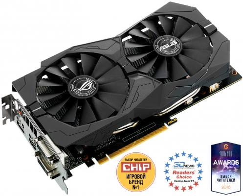 Видеокарта 2048Mb ASUS GeForce GTX1050 PCI-E 128bit GDDR5 DVI HDMI DP HDCP STRIX-GTX1050-2G-GAMING Retail видеокарта asus 4096mb rx 560 strix rx560 o4g evo gaming dvi dp hdmi ret