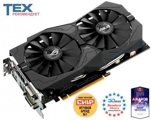 Видеокарта ASUS GeForce GTX 1050 Ti STRIX-GTX1050TI-4G-GAMING PCI-E 4096Mb 128 Bit Retail (STRIX-GTX1050TI-4G-GAMING 90YV0A31-M0NA00)