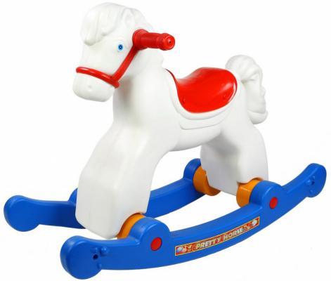 Каталка-качалка R-Toys Лошадка-трансформер белый от 8 месяцев пластик ОР146в2