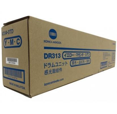 Фотобарабан Konica Minolta DR-313 Y/M/C для bizhub C308/C368 цветной A7U40TD фотобарабан yuanfeng konica minolta bizhub c500 c550 c650 c8050 c451 c500 opc drum