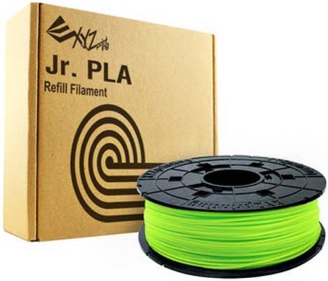 Пластик для принтера 3D XYZ PLA для Junior 1.75/600гр RFPLCXEU0AD NEON зеленый пластик для принтера 3d xyz pla для junior синий 1 75 мм 600гр rfplcxeu0db rfplc fpm pgb th 679 0217