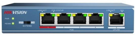 Коммутатор Hikvision DS-3E0105P-E 5-ports 10/100Mbps