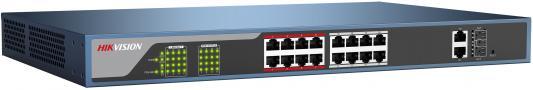 Коммутатор Hikvision DS-3E1318P-E 16-ports 10/100Mbps коммутатор zyxel gs1100 16 gs1100 16 eu0101f
