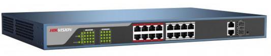 Коммутатор Hikvision DS-3E0318P-E 16-ports 10/100Mbps 100 pcs d sub 15 pin male solder type plug adapter vga connector serial ports db15m