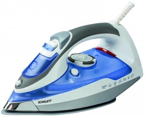 Утюг Scarlett SC-1337S 2400Вт синий серый scarlett sc 1337s