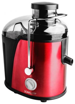 Соковыжималка Scarlett SC-JE50S15 850 Вт нержавеющая сталь красный соковыжималка для цитрусовых scarlett sc je50c03